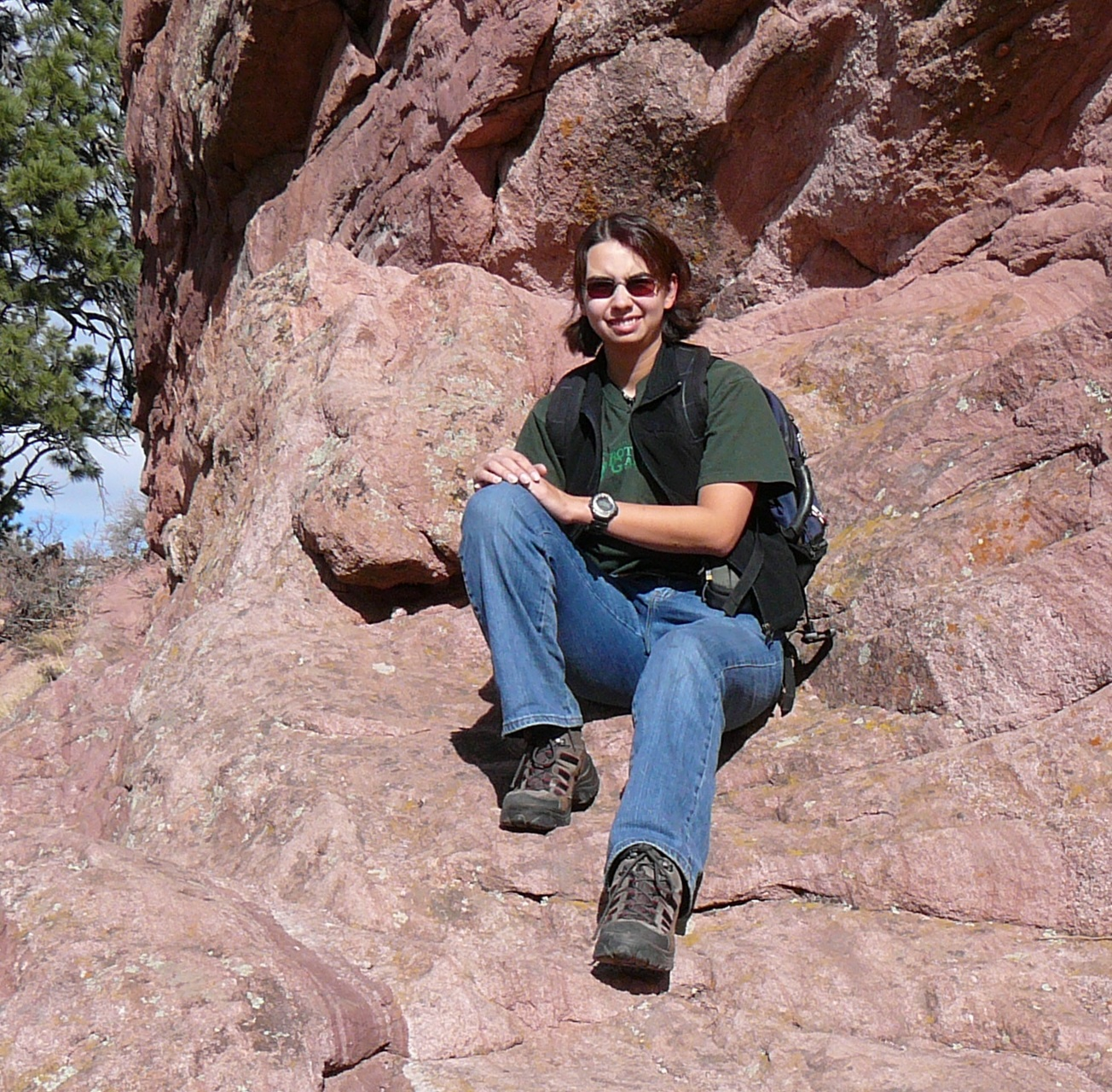 Robin Tanamachi hiking in Boulder Canyon in 2008