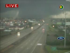 Tornado entering Birmingham, AL