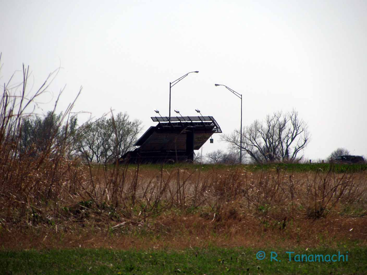 Billboard blown down near Blackwell, OK