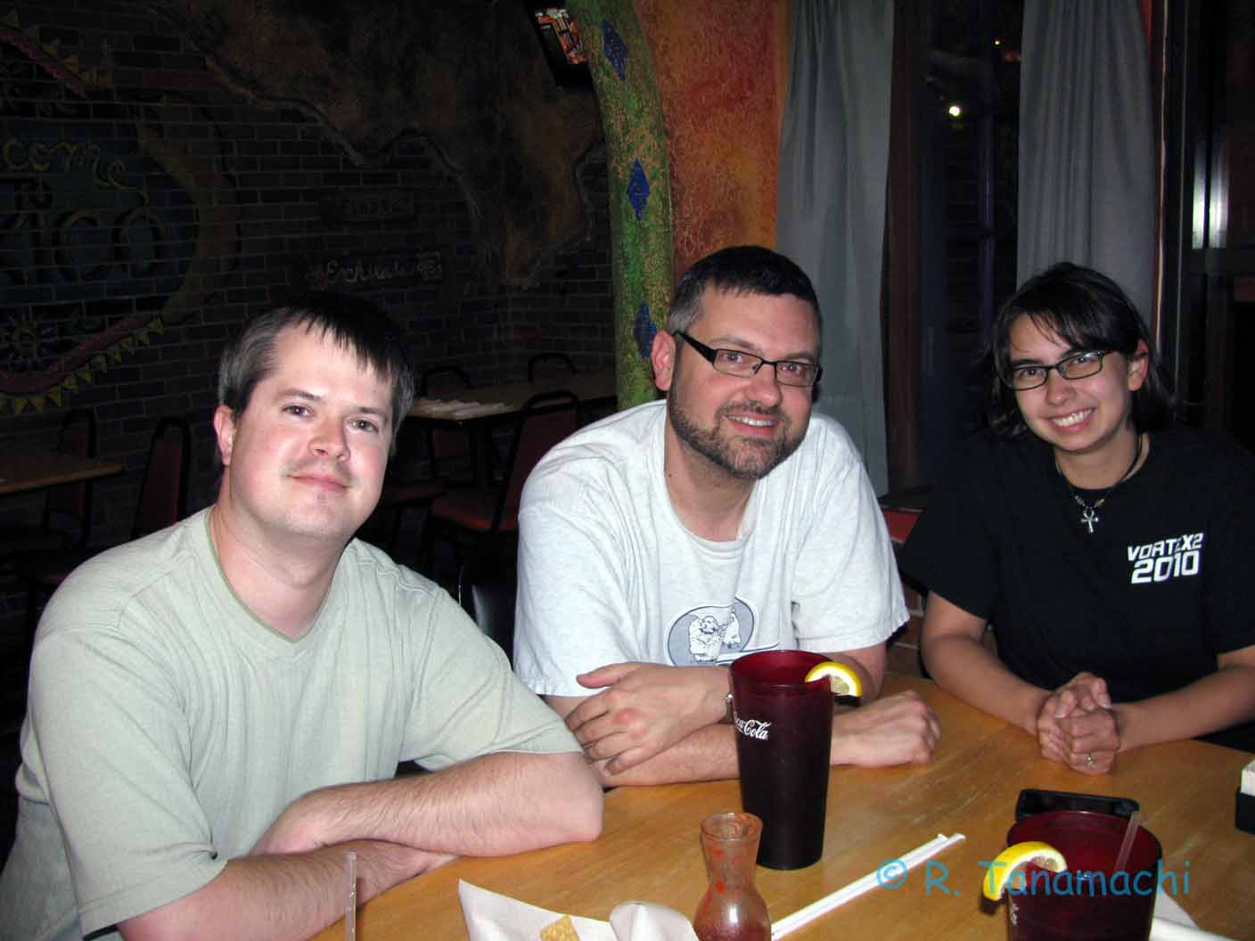 Dan D., Amos M., Robin T. meet up at Playa Azul