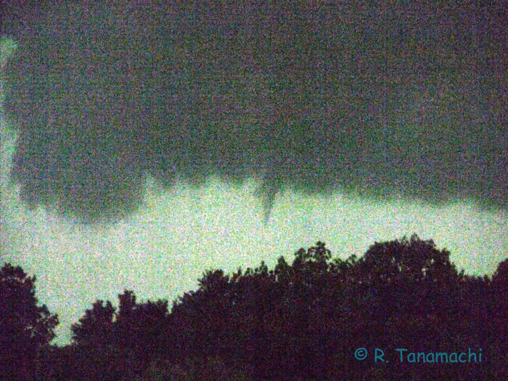 Allison, TX funnel cloud (contrast enhanced)
