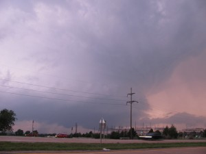 Supercell W of Ada, OK on 21 May 2010