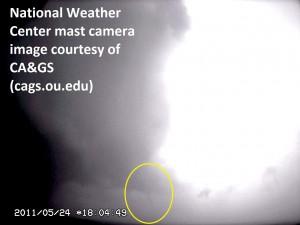 Mast-cam image of Goldsby/Blanchard tornado