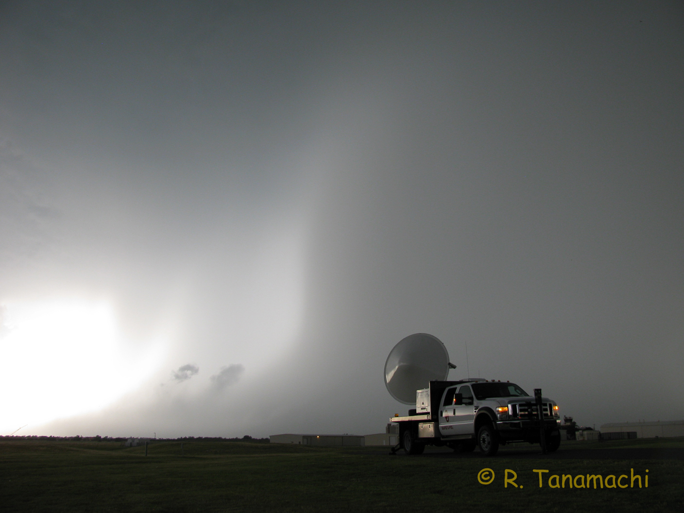RaXPol deployed at North Base in anticipation of the coming storm.
