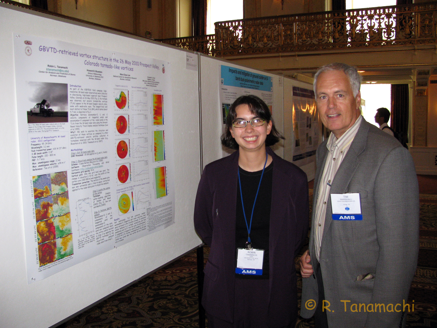 Tim Marshall visits my radar conference poster