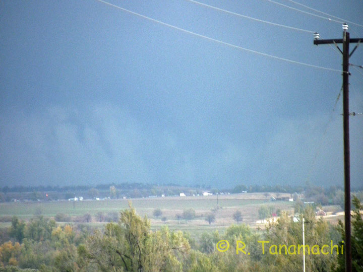 Multi-vortex tornado near Fort Cobb, Oklahoma