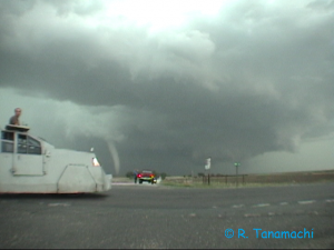 Tornadoes with TIV near Stockton, KS, 2005