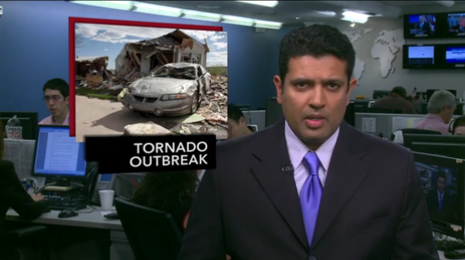 Hari Sreenivasan reporting on the 14 May 2012 tornado outbreak