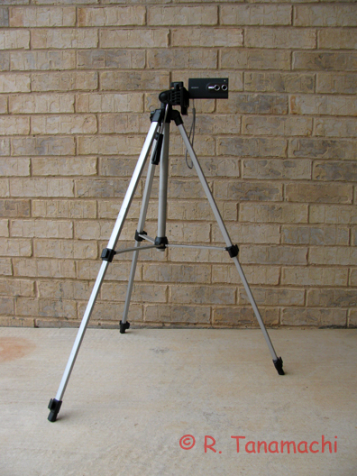 The Bloggie mounted on a tripod