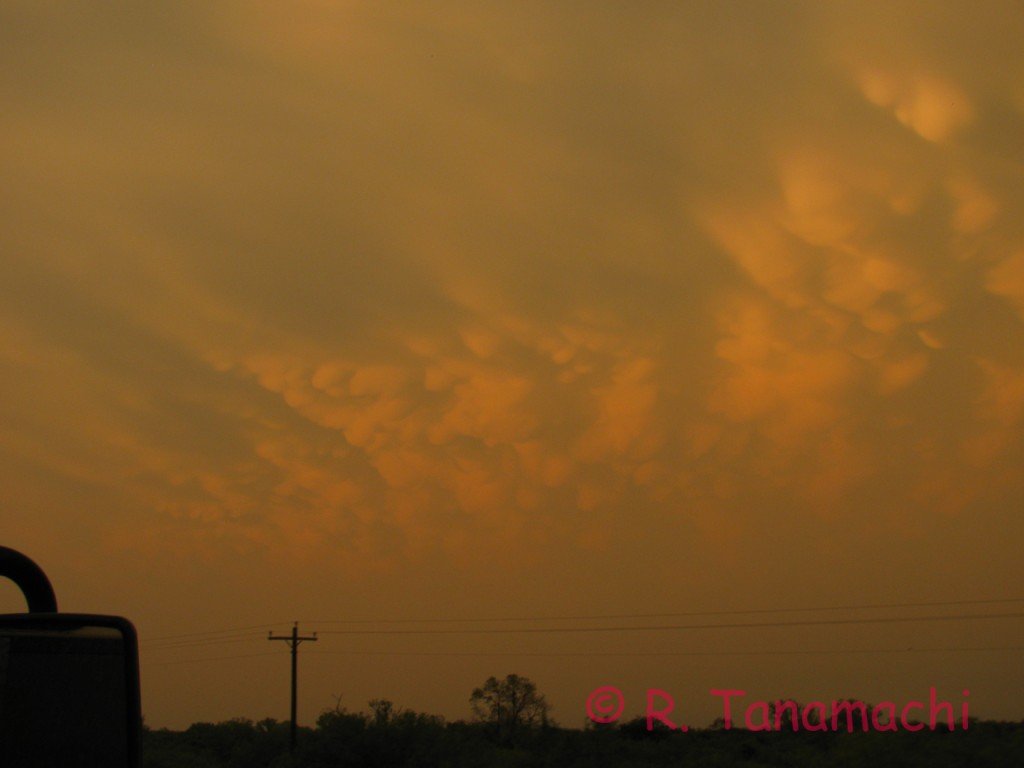 Mammatus under the second Paducah, TX supercell of 30 May 2012