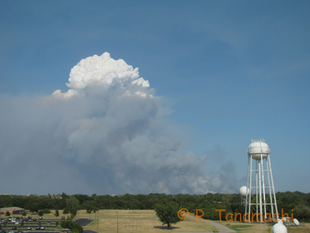 Lake Thunderbird pyrocumulus
