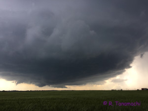 Lahoma, OK supercell, view toward the W