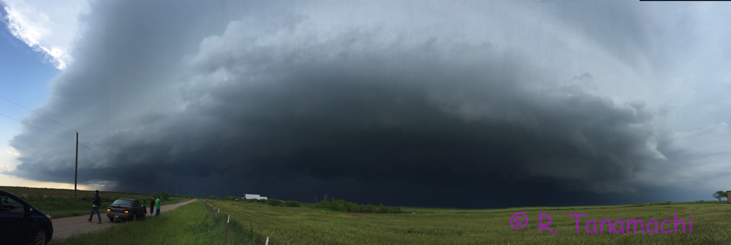 Supercell approaching Electra, TX at about 5:45 p.m.